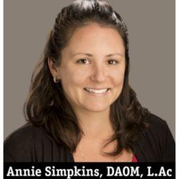 Annie Orion Simpkins -  Acupuncture and Oriental Medicine